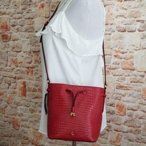 New Ralph Lauren Mini Leather Bucket Bag